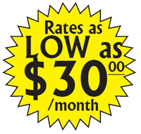 Lowest Storeage Rates in the Bitterroot Valley